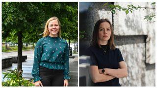 Silje Skyttern er leder i Nito-studentene, Rebekka Lie er leder i Tekna Student.