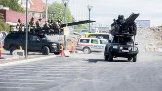 Politi og forsvar øver i terrorbekjempelse