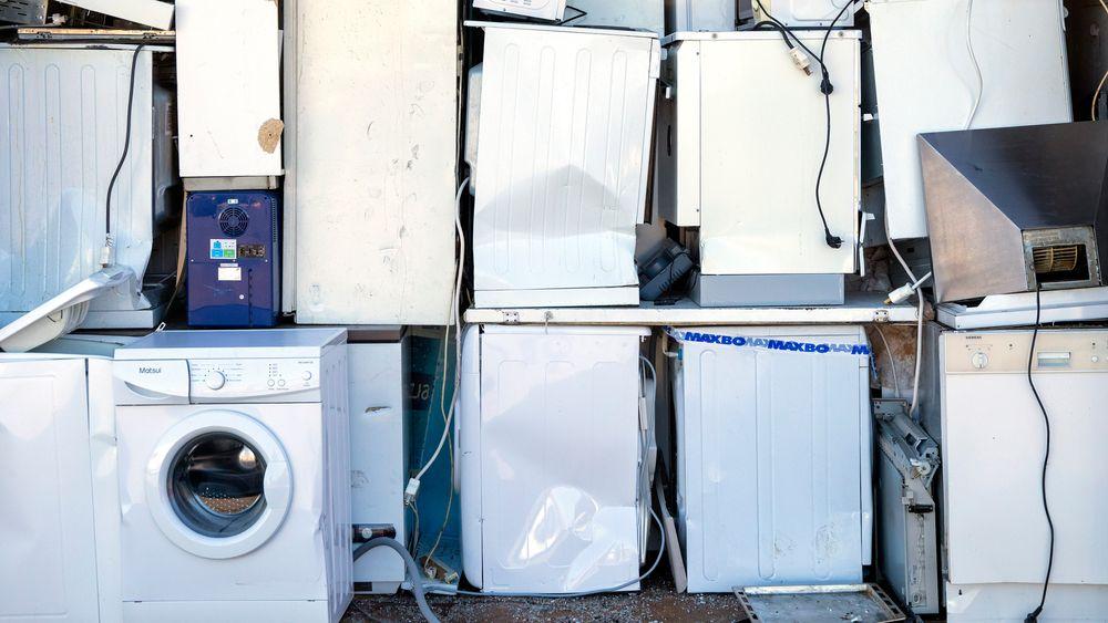 Nord-Europa produserer mest elektrisk avfall per person, men det er også her at mest innsamles til gjenbruk. Bildet er fra gjenvinningsstasjon i Oslo.