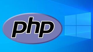 PHP-logoen på skrivebordet i Windows 10.