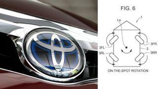 Vil la deg rotere bilen: Toyota søker om patent på en ny firehjulsstyring