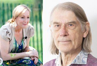 J.K. Rowling og Jan Bojer Vindheim, som er debattant og MDG-politiker.