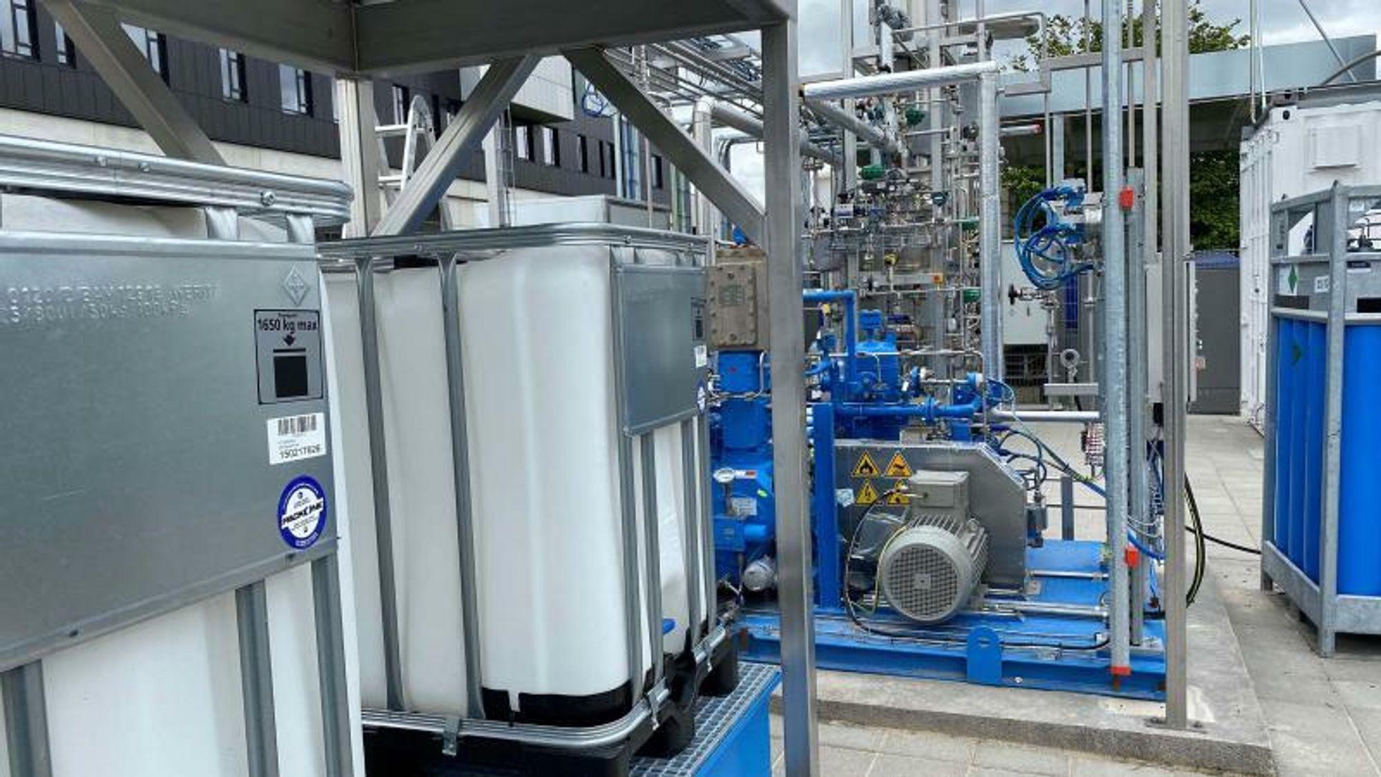 Danmarks første anlegg for produksjon av metanol basert på hydrogen og CO2 er etablert av prosjektet Power2Met.