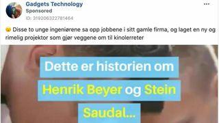 Nei, denne «smarte» prosjektoren er ikke oppfunnet av norske ingeniører