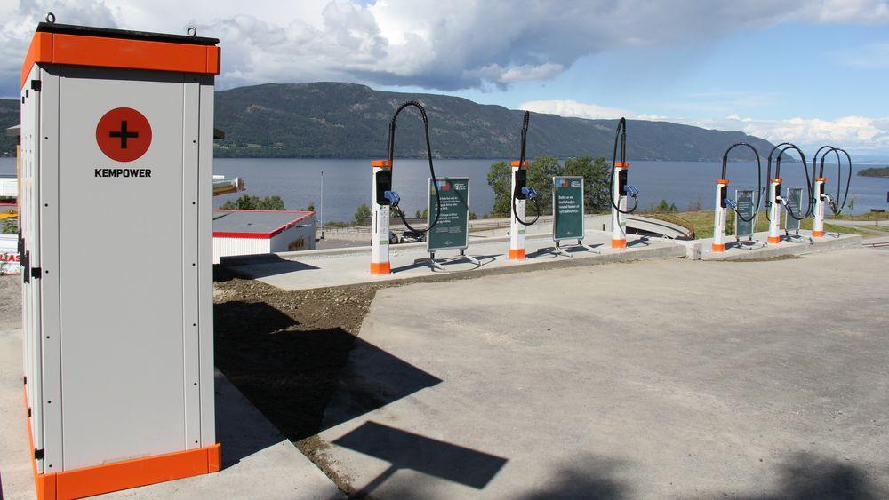 Kempower har levert en løsning for hurtiglading som er ny i Norge.