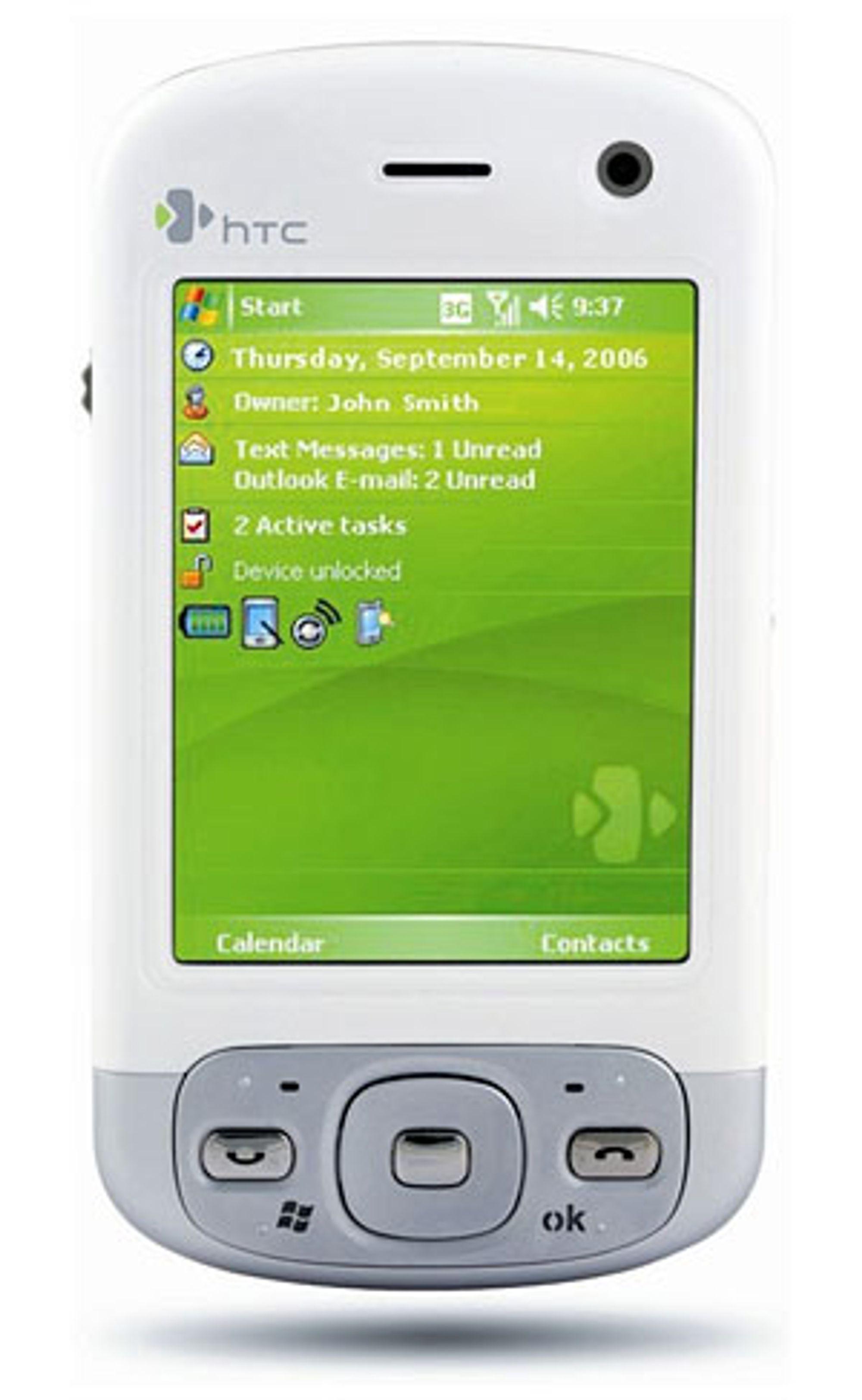 Det skjuler seg en GPS-mottaker inni HTC P3600.