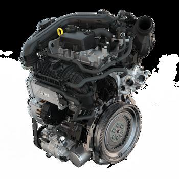 En Volkswagen TSI bensinmotor fra nyeste generasjon Golf.