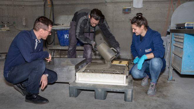 Forskere lager spennarmert betong uten å spenne armeringen