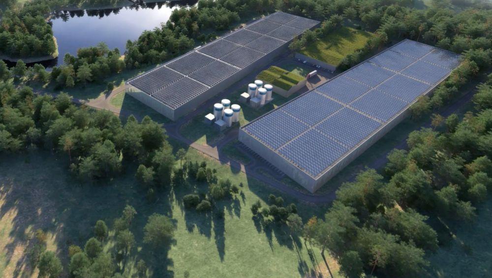 Slik er anlegget til Nordic Aquafarms tenkt bygd i delstaten Maine i USA. Det amerikanske sjømatmarkedet er ventet å bli doblet de neste årene.