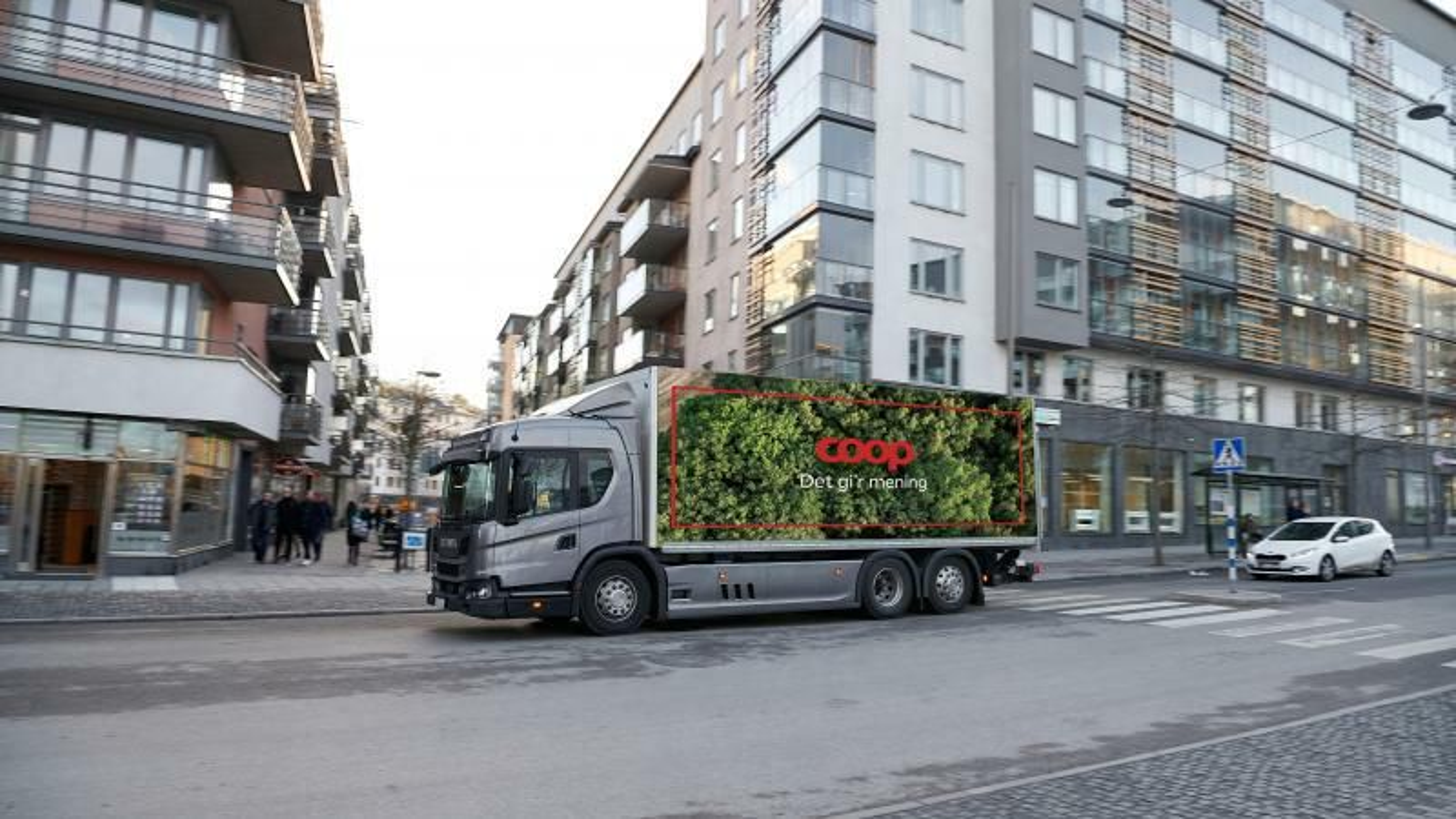 Nå blir elektrisk lastebil også å se i Stor-København. Bilen har en rekkevidde på 140 kilometer, og koster tre ganger så mye som en dieselversjon.