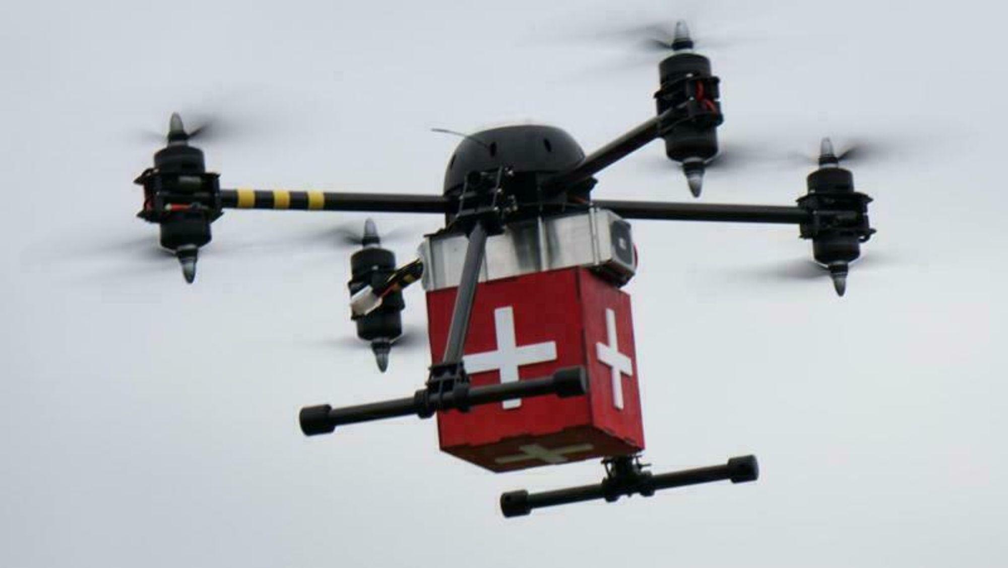 Holos helsedroner, som etter hvert skal føre blodprøver fra Ærø til Odense, vil være med på å teste U-romteknologien.