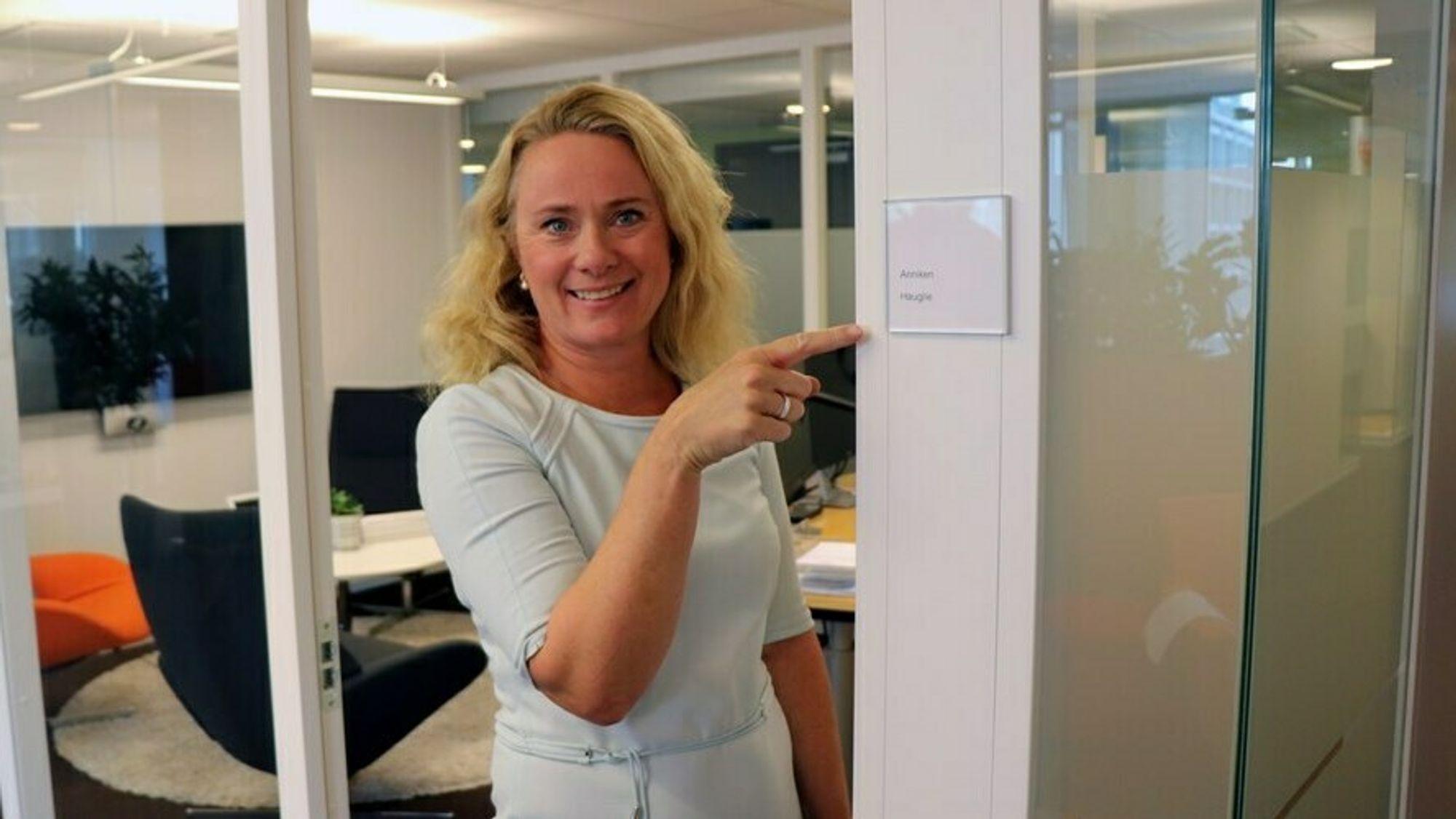Anniken Hauglie har i dag sin første dag på jobb som direktør for Norsk olje og gass.