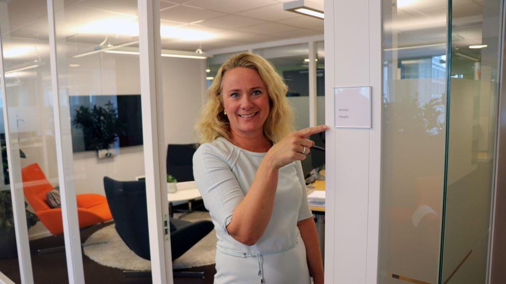 Tidligere statsråd Anniken Hauglie har nå begynt i sin nye stilling som direktør i bransjeorganisasjonen Norsk olje og gass.