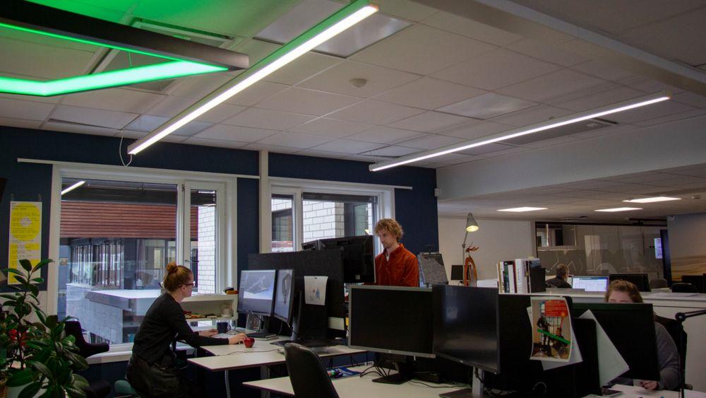 I ÅF Lighting/Light Bureaus egne kontorlokaler tester de ut lyskonsepter på sine egne medarbeidere før de setter dem ut i livet.