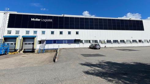 Møller Eiendom logistikk solceller anlegg Oneco energi