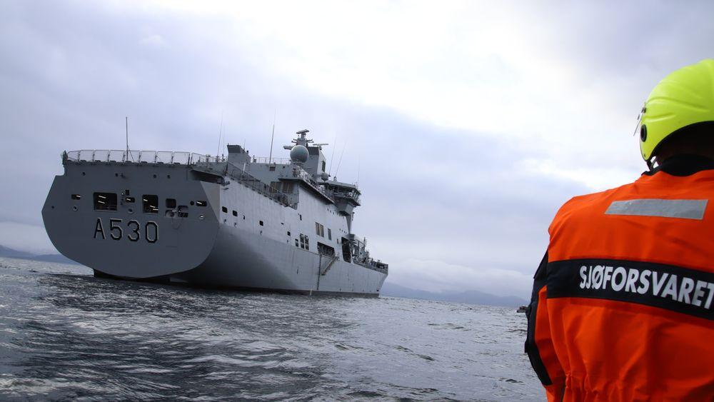 Dette bildet er fra da KNM Maud ankom Norge for 16 måneder siden.