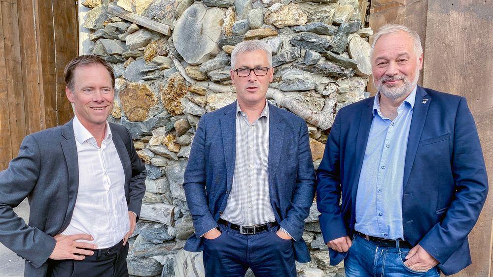 Gigantprosjekt: Adm. dir. Øystein Rushfeldt (t.v.), varaordfører i Hammerfest Terje Wikstrøm og konsernsjef Frode Nilsen.