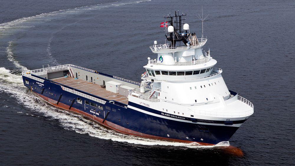Island Crusader er det ene av to PSV-er med gass- og dieselmotorer som STX (Vard) Brevik leverte til Island Offshore i 2012.