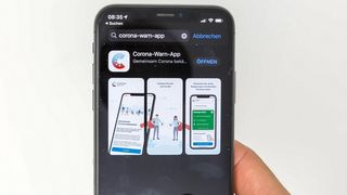 Den tyske appen Corona Warn.