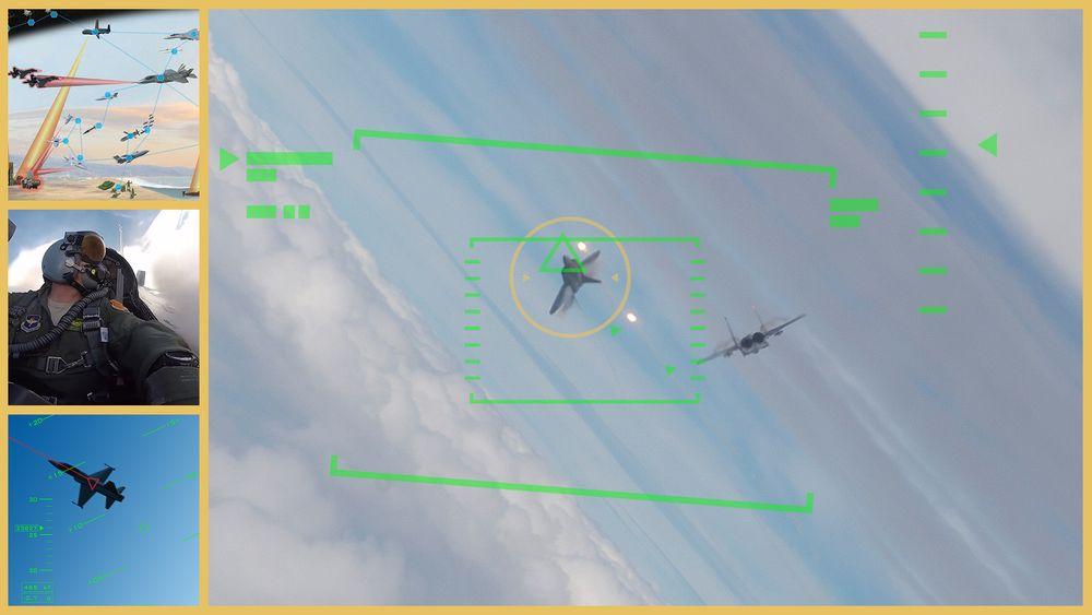 Illustrasjonsfoto fra Darpa-programmet «Air Combat Evolution».