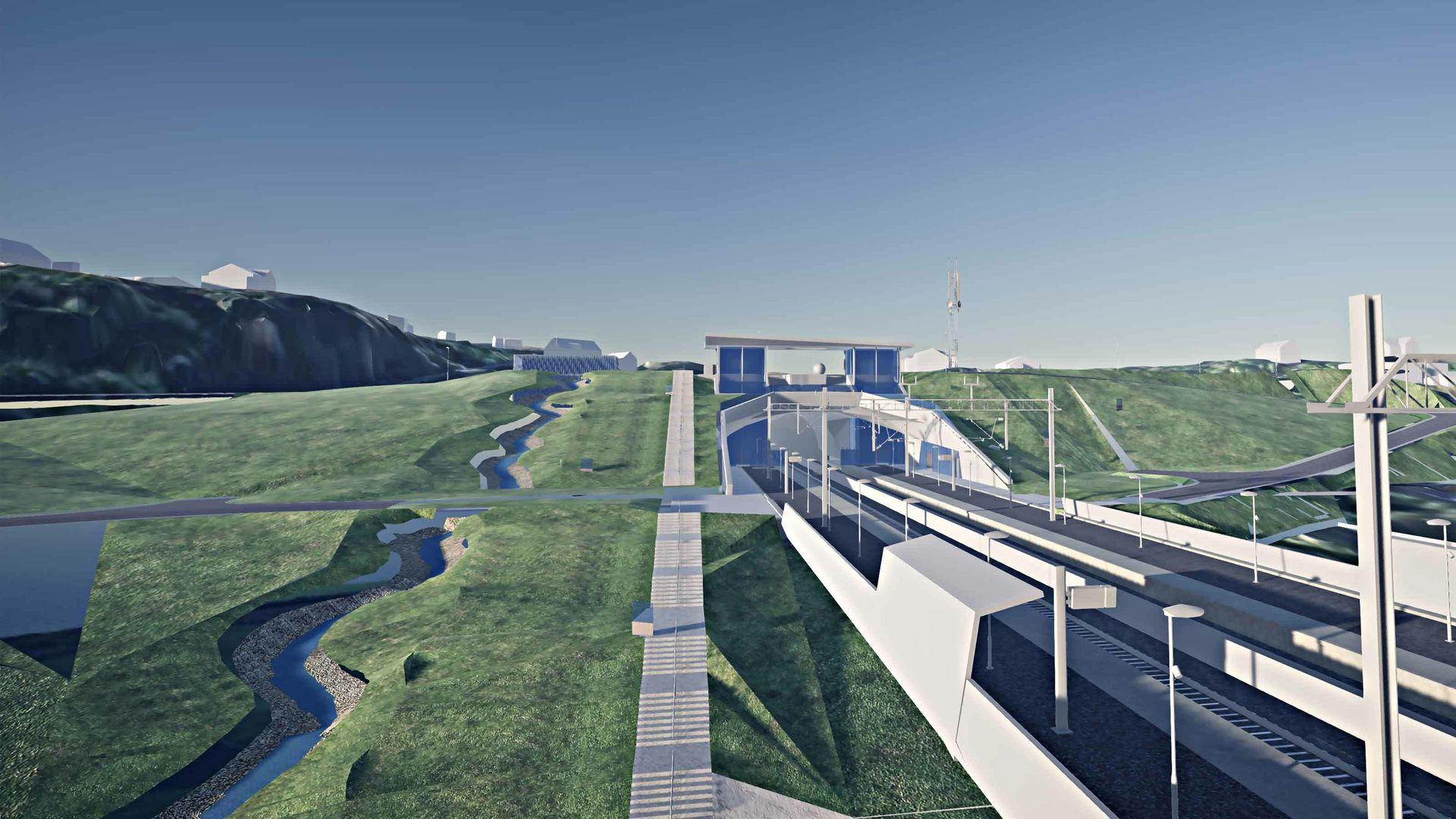 Alt tyder på at BIM-metodikk og åpne standarder blir obligatorisk i alle fremtidige veg- og jernbaneprosjekter.  Arkitekt: Norconsult.