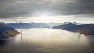 Her måles vinden for å bygge verdens lengste bruspenn