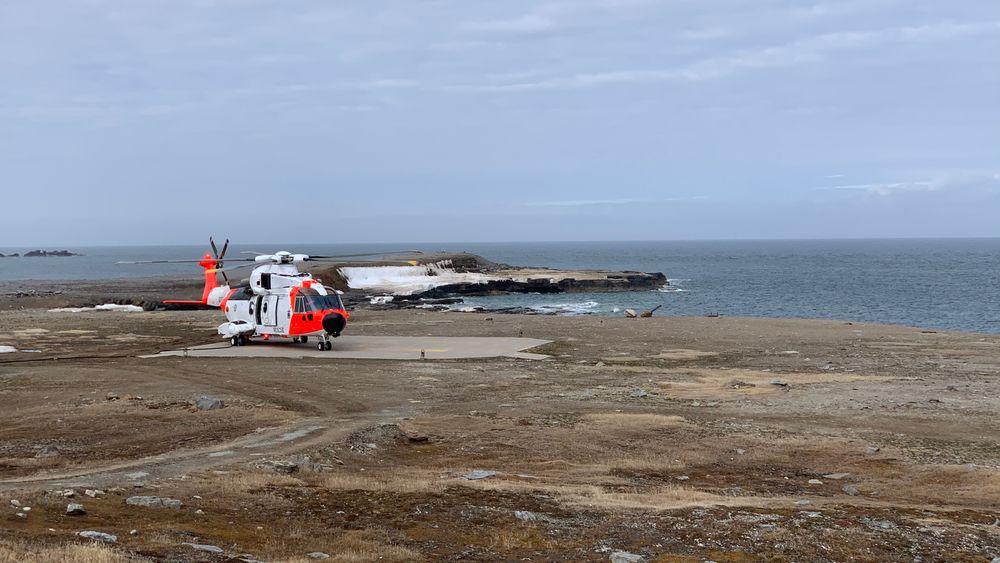 AW101 på Bjørnøya for første gang i juni.