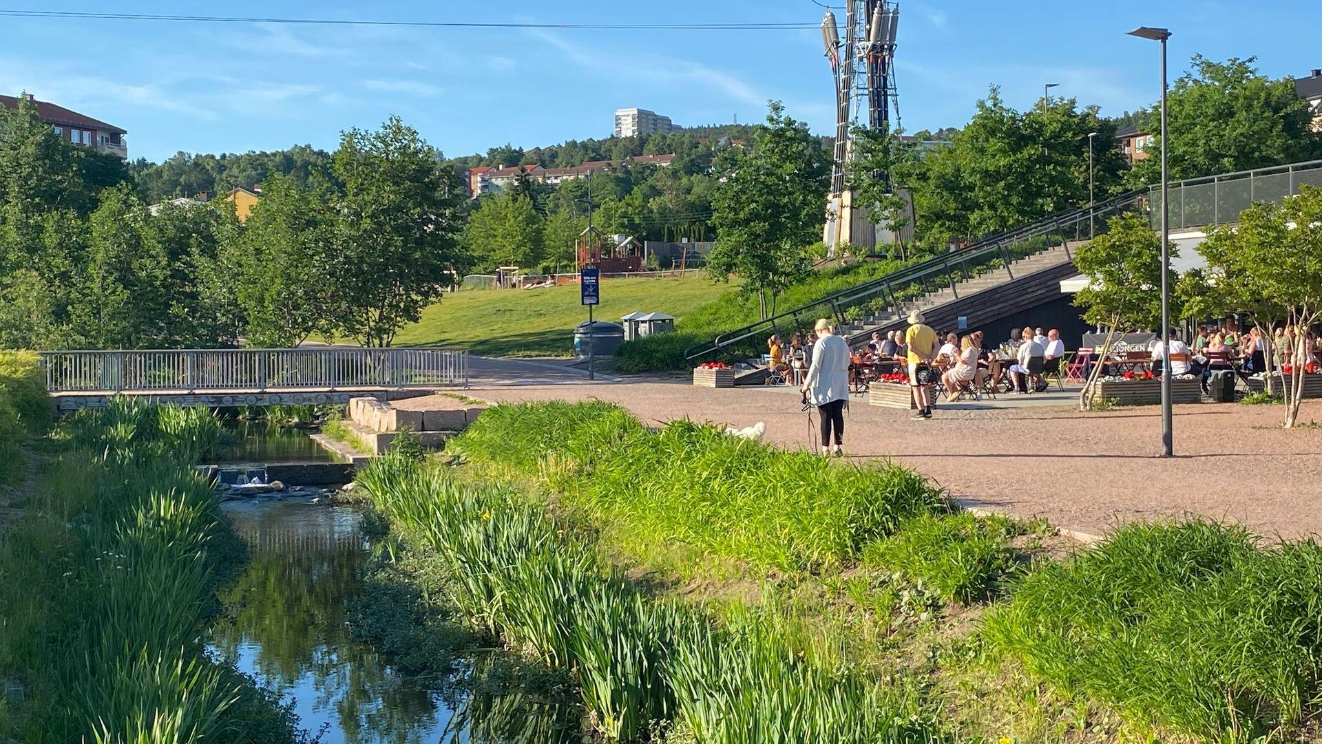 OVERVANNSHÅNDTERING: Hovinbekken i Bjerkedalen i Oslo.