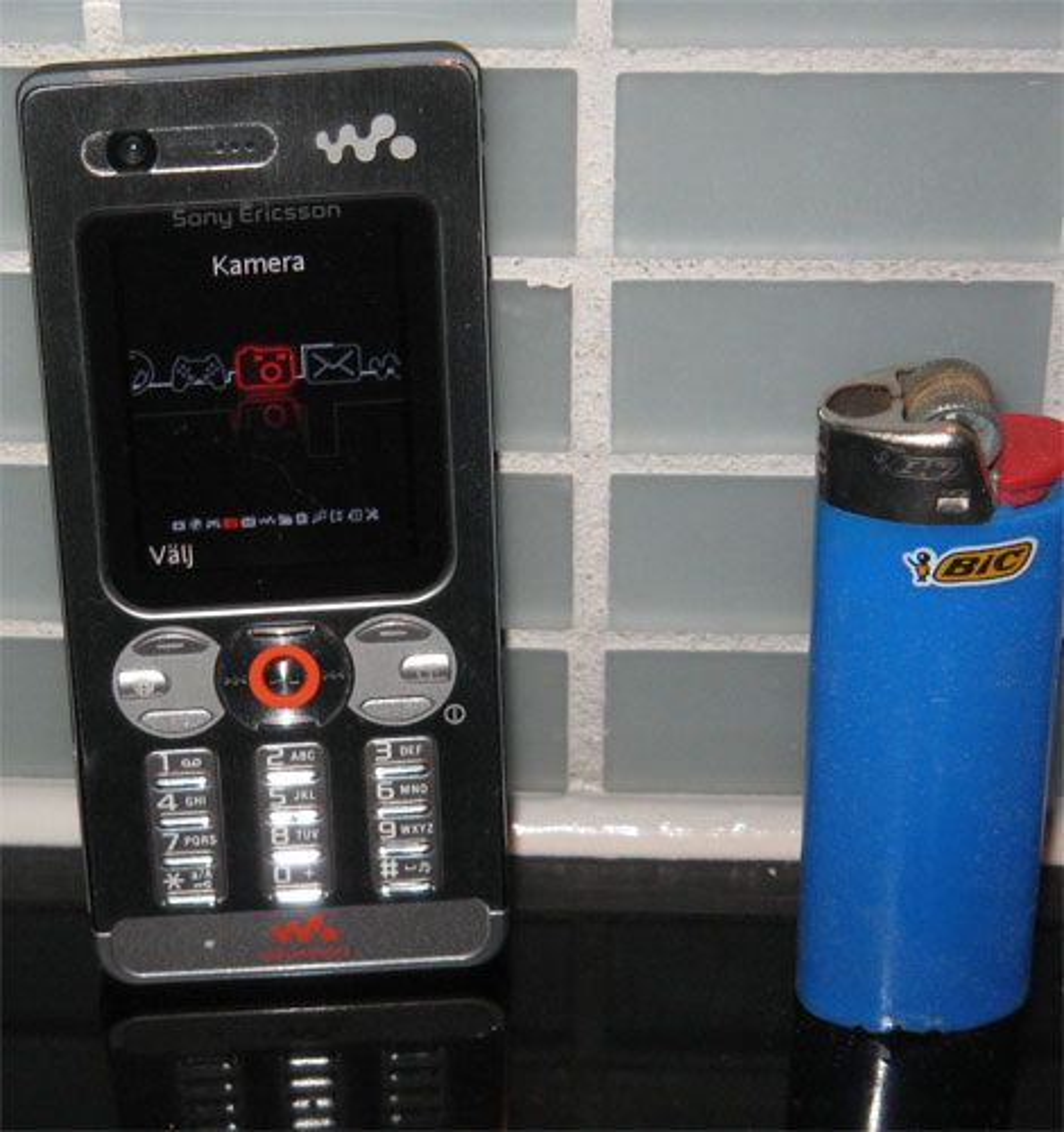 Sony Ericsson W880i er knøttliten. (Foto: Mobil.se/Linus Brohult)