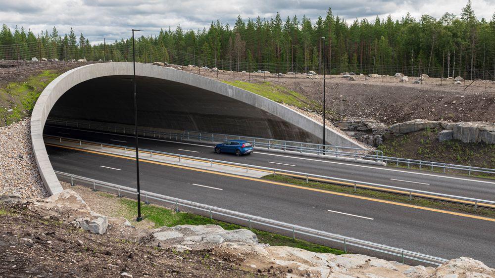 De 27 kilometerne på Riksvei 3 mellom Løten og Elverum ble bygget på kun 26 måneder.