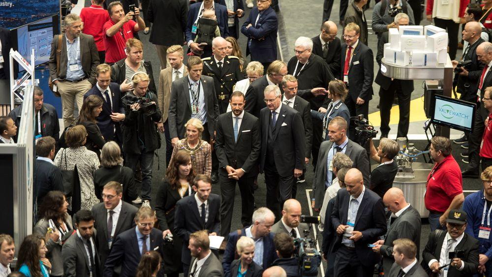 Bildet er fra ONS i 2018 da kronprins Haakon deltok under åpningen. Fra 31. august til 2. september blir årets ONS en digital utgave med videoforedrag.