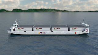 Asko setter inn 67 meter lange og 15 meter brede elektriske og autonome skip over Oslofjorden i 2022