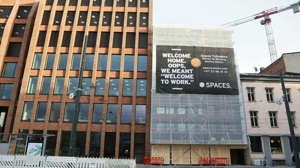 Byggebransjen er en av sektorene hvor potensialet for sirkulær økonomi er størst. Bildet er fra prosjektet Entra Spaces i Oslo.