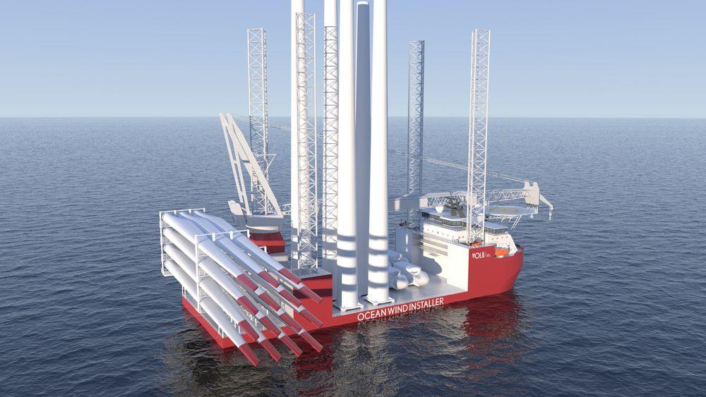 Installasjonsskipet til Vard og Ocean Installer skal ha en 2.000-tonns kran og kunne løfte 1.000 tonn opp til 165 meter. Det kan stå klart i 2024.