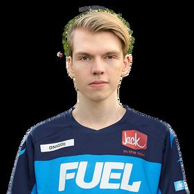 Stefan «Onigod» Fiskerstrand i Dallas Fuel-drakt.