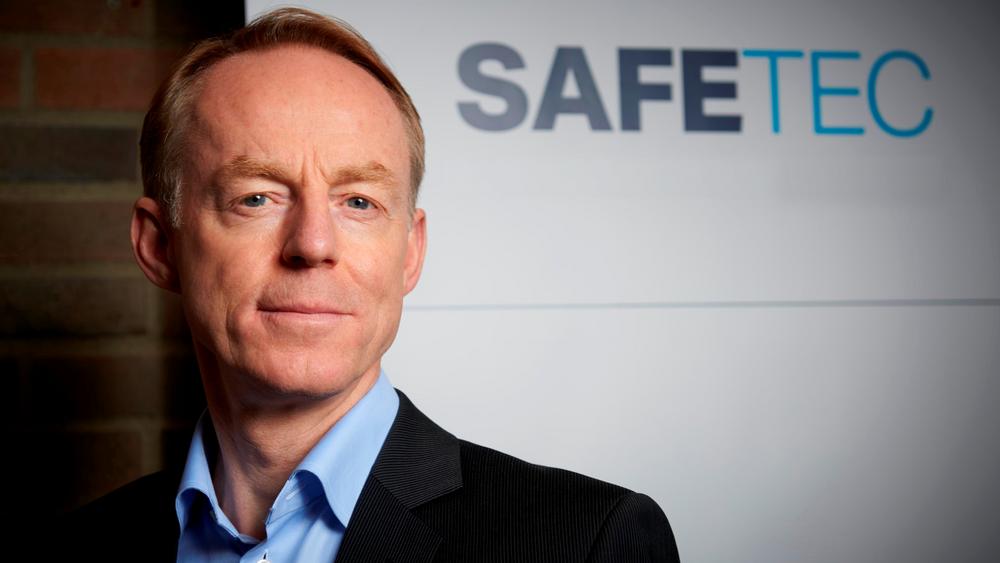 Frank Vollen, administrerende direktør i Safetec.