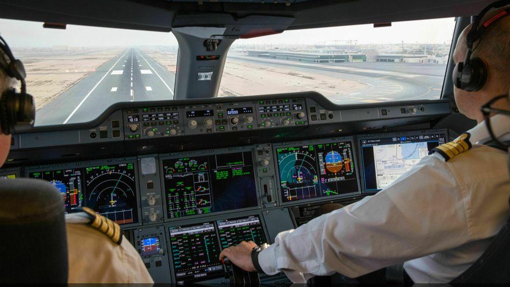 Lengst fram i et Airbus A350-1000.