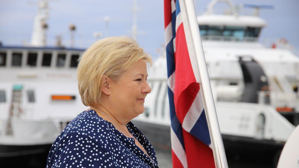 Erna Solberg varsler storsatsing på hydrogen