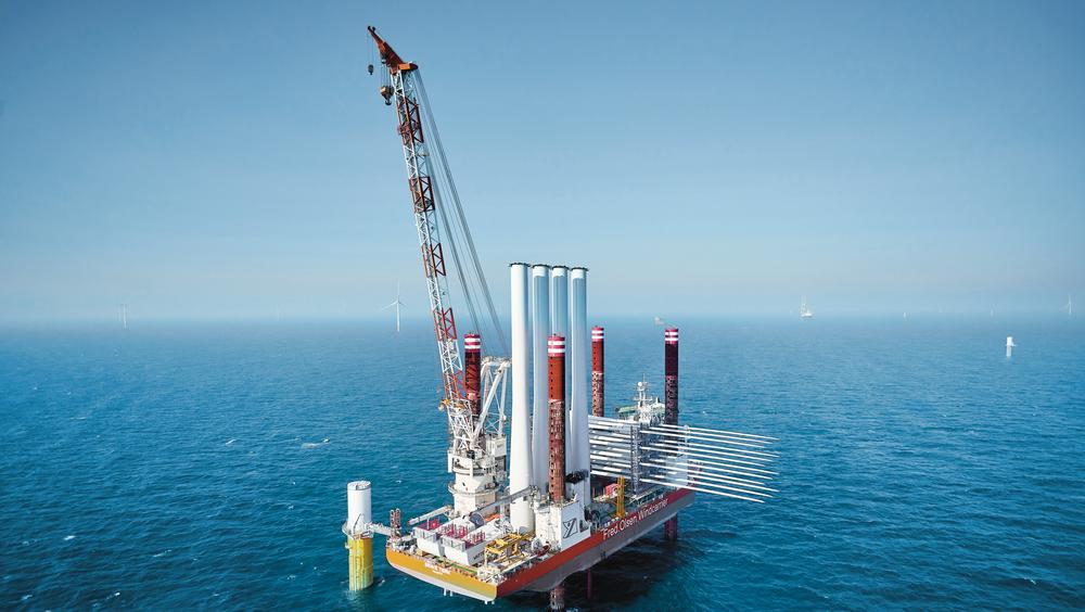 Norsk Industri vil utrede leveransemodeller for havvind. Her fra en utbygging på dansk sokkel.