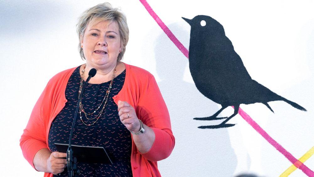 Statsminister Erna Solberg var med på åpningen av Oslo Science City.