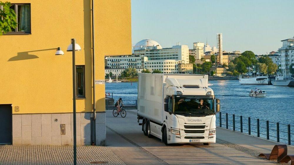 Scanias nye lastebil kommer med to batteripakker.