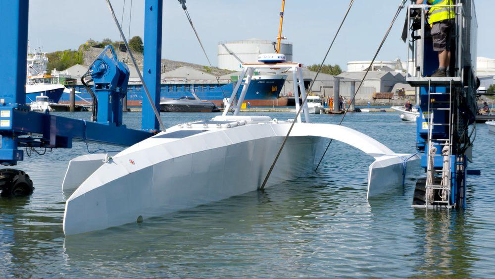 Det autonome skipet MAS skal samle inn data om havet.