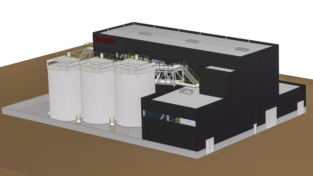 Ti år til: Med et slik filterpresseanlegg for å fjerne vannet i gipslurryen kan avfallsmottaket på Langøya vare frem til 2030