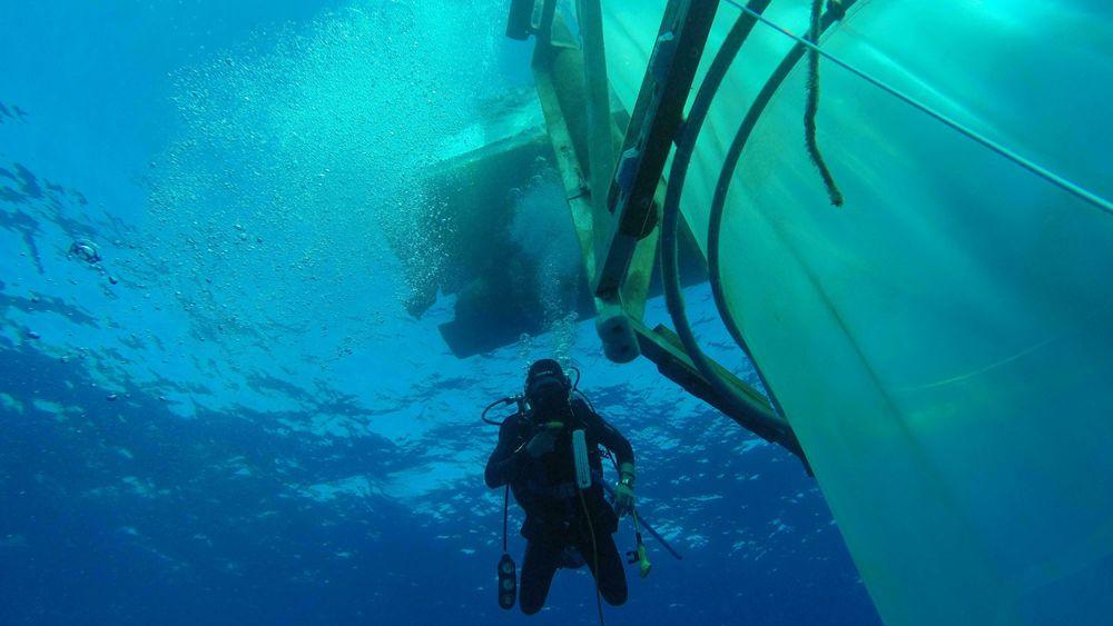 Kiel Cosmos offshore Mesocosms er en av tankene hvor det skal testes mulige effekter og bieffekter av å gjøre havet mer basisk.