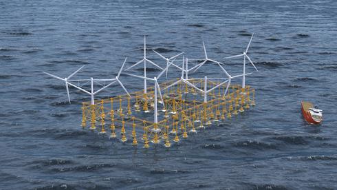 Stålkonstruksjonen er større enn 14 fotballbaner, flyter i vannet og skal sørge for store mengder grønn strøm