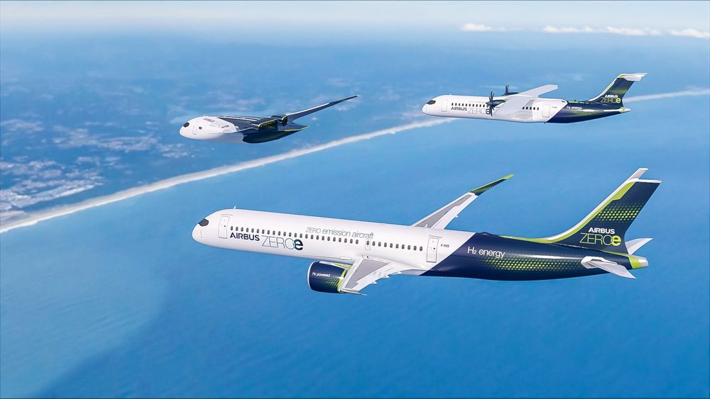 Tre hydrogenfly: Airbus lanserer tre ulike konsepter fly drevet med flytende hydrogen under merkenavnet AirbusZEROe.