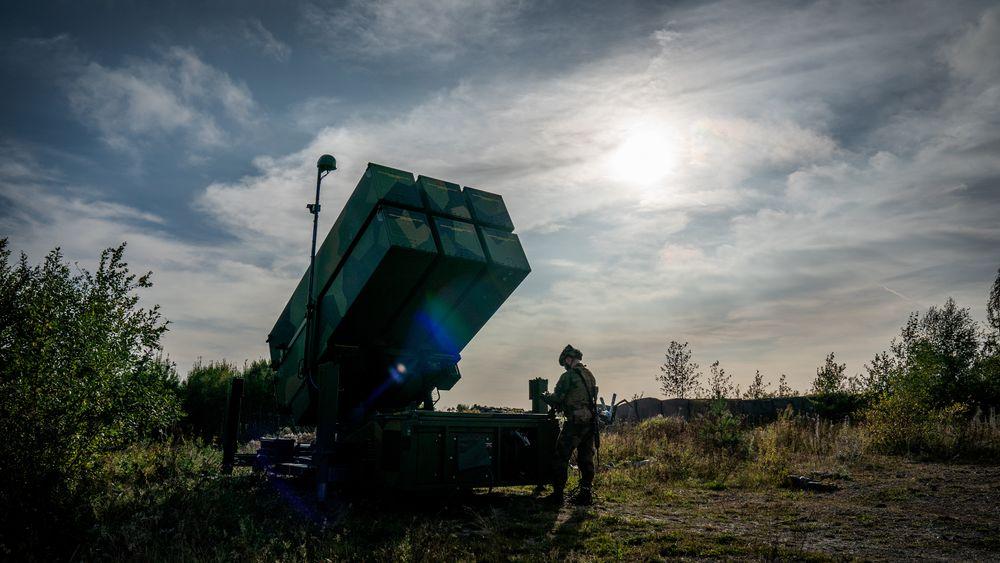 Fra en øvelse på Rygge i høst med det nyoppgraderte luftvernsystemet Nasams III.