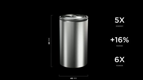 Teslas nye celle er langt større enn dagens.