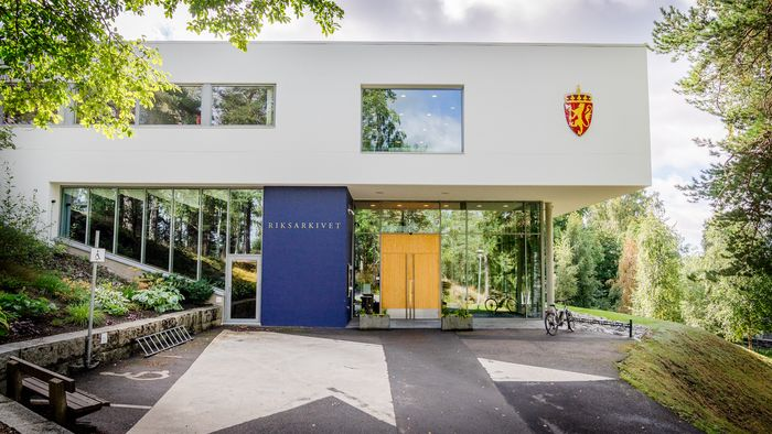 Arkivverkets anlegg på Sognsvann i Oslo.