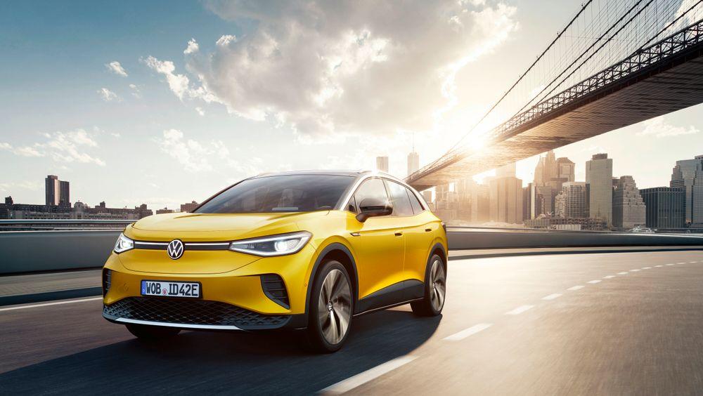Knapt 500 kilometers rekkevidde får Volkswagens ID.4, som ble lansert onsdag. Bildet er av Max-utgaven.